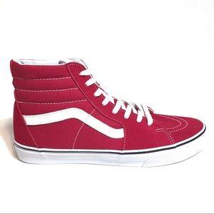 Vans Men's Sk8 Hi Crimson Sneakers